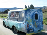 Hippie Love Van in Mendocino, CA