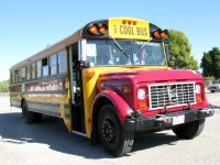 The Cool Bus in Niland Tomato Festival Parade