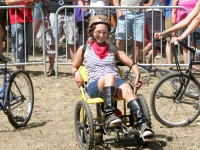 Rene rides kinetic chair at 2010 Tour de Fat
