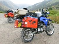 Two Bikes Running at Animas Forks Cinamon Pass Colorado