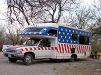 Stars and Stripes Custom RV Camping Rio Grand Village Big Bend TX