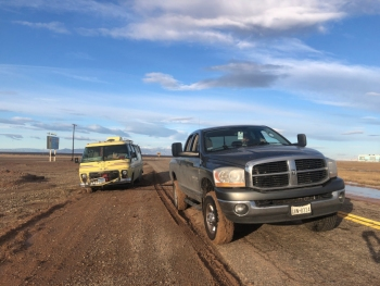 Dodge RAM Tows GMC Motorhome
