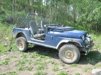 Old Blue the Vickers Ranch AMC Jeep at Lake Emma Jean