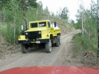 Vickers Upper Ranch Road Mine Ore Truck Jeep Encounter