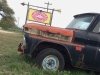 Luckenbach Texas Old Truck Sign