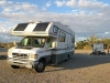 Solar RV Powered Electric Charges Car
