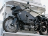 Track Turbo Diesel Motorcycle on KiraVan Expedition Vehicle