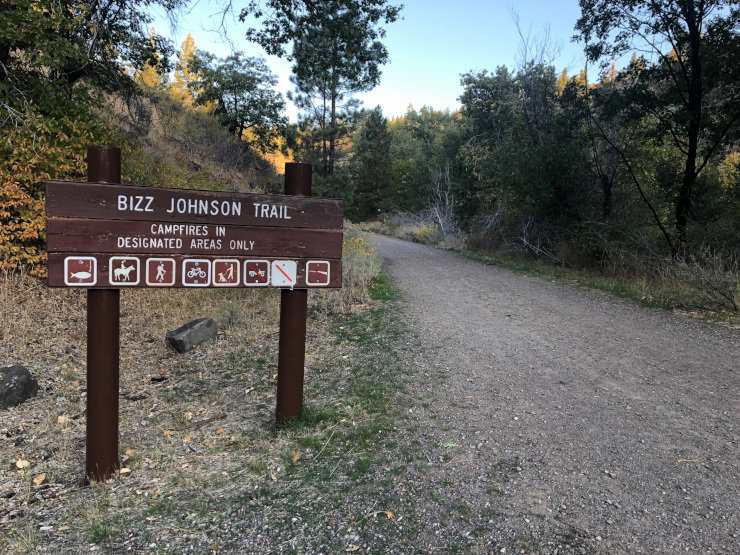 running the Bizz Johnson Trail