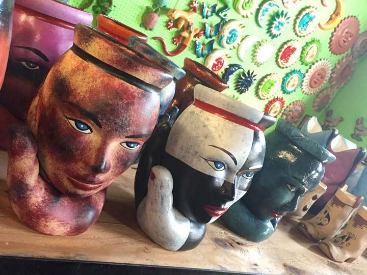 Los Algadones, Mexico Street Market Pottery