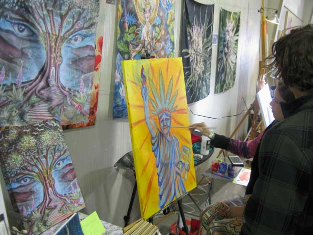 2017 Humboldt Cannifest Artists Live Painting