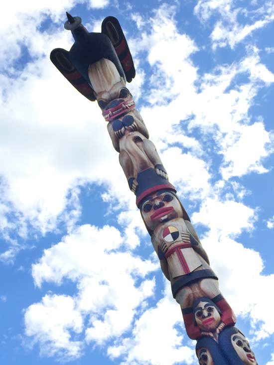 Yukon First Nation Totem Pole Carving, Whitehorse YT