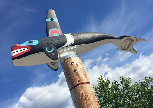 First Nation Carved Totem, Carcross Yunkon