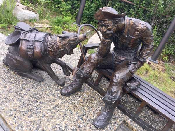 Skagway Alaska Gold Rush Dog Bronze Statue