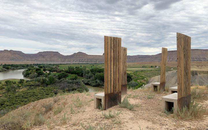 Green River Utah art chairs