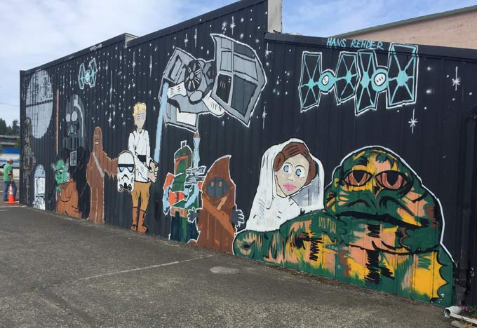 Aberdeen, WA Star Wars Shop Mural
