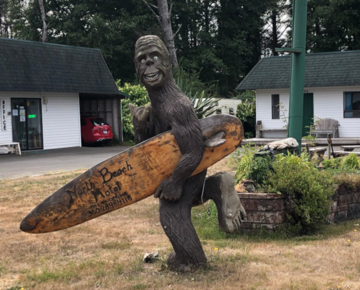 Surfing Bigfoot