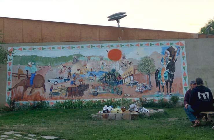 Mural at Beer Parlor, Hot Springs Montana
