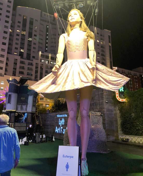 Euterpe Giant Marionette, Fremont Street Las Vegas Halloween