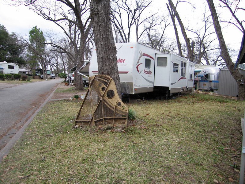 Art or trash, Pecan Grove RV park, Austin, Texas