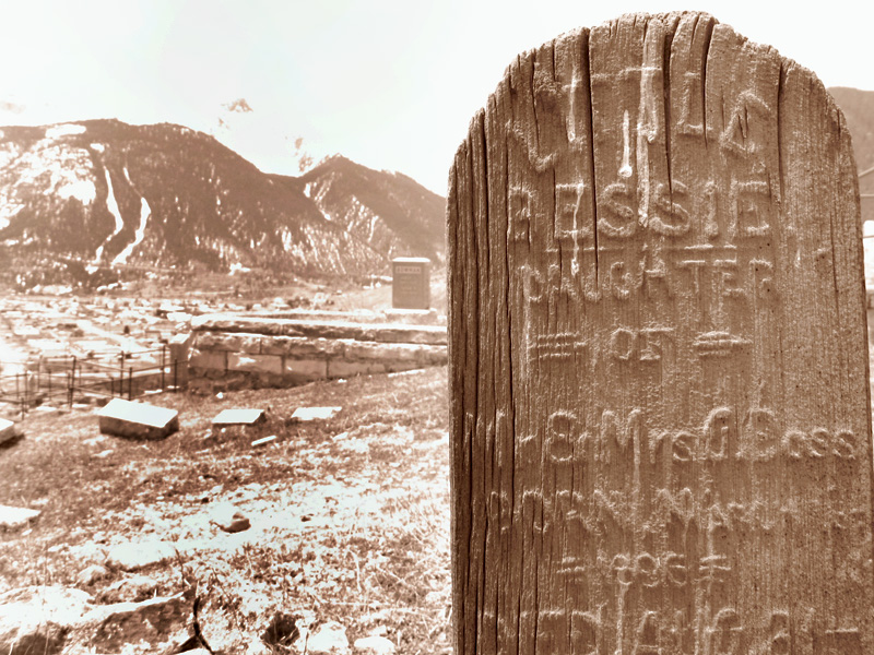 Hillside Cemetery above Silverton Colorado