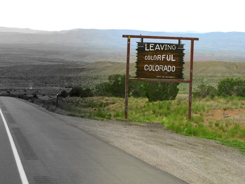 Leaving Colorful Colorado for Greyscale Utah