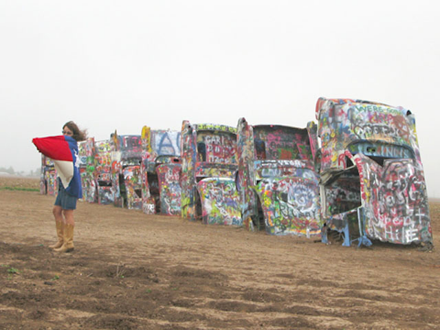 Cute Cadillac Ranch Texan