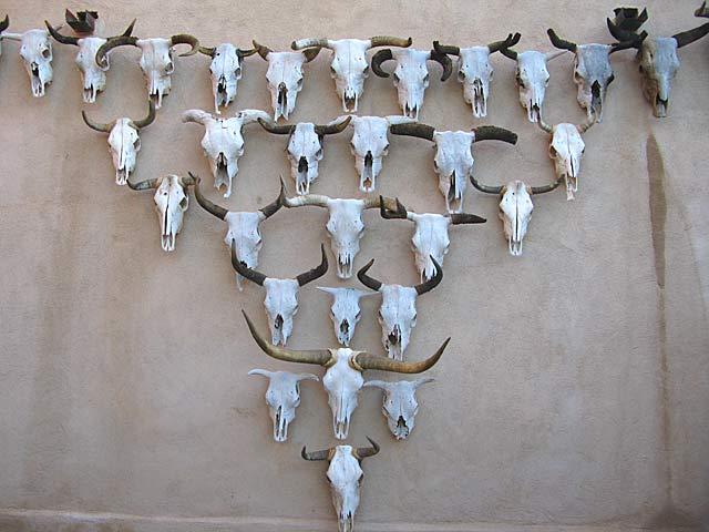 Longhorn Sculpture Gage Hotel Marathon Texas