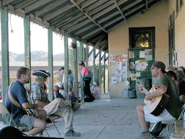 Terlingua Texas Store Porch Music Scene