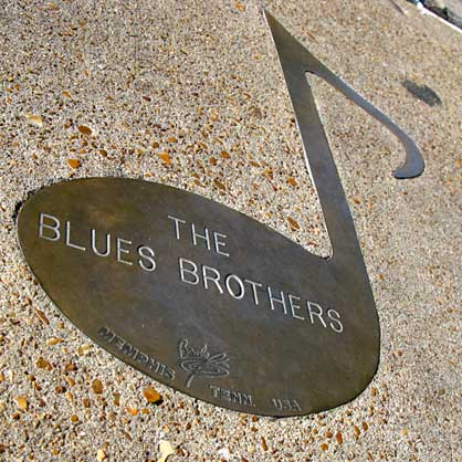 Blues Brothers Note on Beale Street Memphis, TN