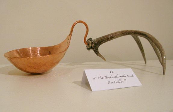 Copper Bowl with Antler Metal Museum Memphis, TN