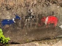 Nelson, BC Banksy Style Grafitti