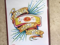 Home Sweet Home Flash Tattoo RV Art
