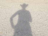 Slab City Rat Cowgirl Shadow