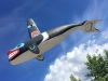 Flying First Nation Killer Whale Totem, Carcross Yunkon