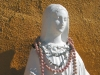 Detail of statue at Riverbend Hot Springs