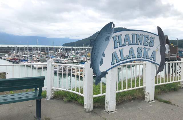 Haines Alaska Port Fish Sign