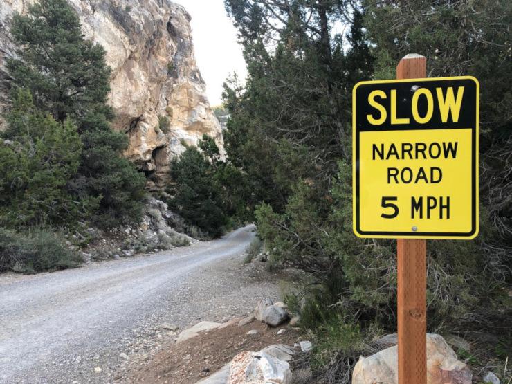 Great Basin National Park narrow roads