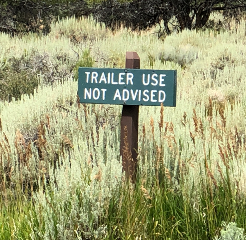 No Trailers Great Basin National Park