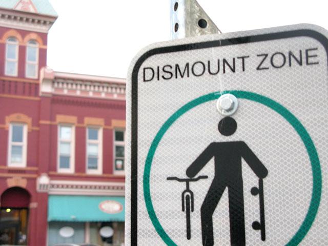 Fort Collins Colorado bike sign
