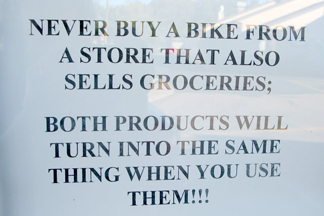 Bike Shop Sign