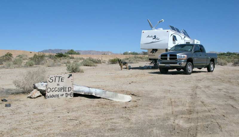 Slab City RV camping