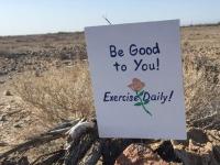 FOY Running Trail Sign