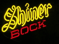 Luckenbach, Texas Shiner Bock Neon Sign