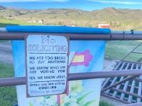 No Soliciting at Rist Canyon Farm