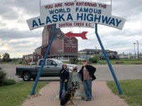 Alaska Highway Mile 0 Sign, Dawson Creek BC