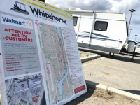Whitehorse Walmart RV Parking, Yukon