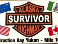 Yukon, Alaska Highway Survivor Sticker