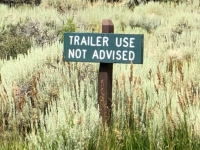 Trailers Not Advised Great Basin National Park