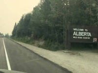 Smoky Skies in Jasper Park, Alberta
