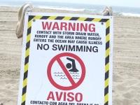 No Swimming at Toxic Santa Monica Beach